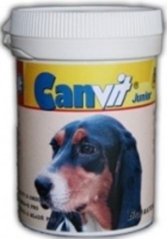 Canvit Junior Витаминно-минеральный комплекс с Omega-3 и Omega-6 для щенков и молодых собак (80 шт.)