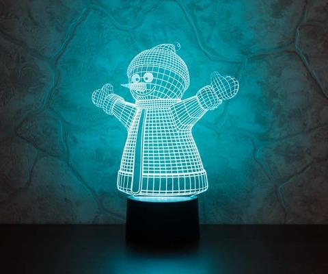 3D светильник Снеговик