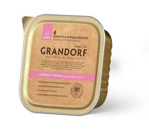 Консервы (ламистеры) Grandorf Canned Chiken & Rice Puppy All Breeds
