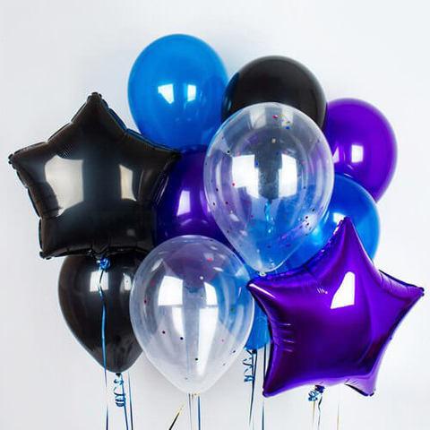 Шары прозрачные, шары с конфетти, шары звезды, букет из шаров, купить воздушные шары,бесплатная доставка шаров.