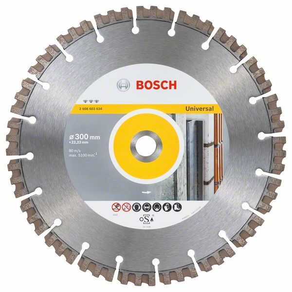Алмазный диск Best for Universal 300-22,23 Bosch 2608603634