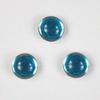 Кабошон круглый Чешское стекло, цвет - голубой, 7 мм