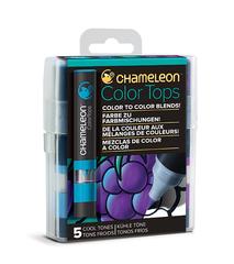 Набор цветовых блендеров Chameleon Color Tones Cool Tones, холодные тона, 5 шт.