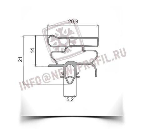 Уплотнитель 128*57см для холодильника Орск 145 (морозильник) . Профиль 010