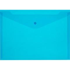 Папка конверт с кнопкой КНК 180 синий прз. 10шт/уп