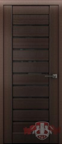 > Экошпон Владимирская фабрика дверей Лайн-3 Л3ПГ4, стекло чёрное, цвет венге, остекленная