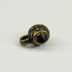 Бейл 9х6 мм (цвет - античная бронза)