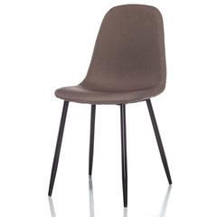 Стул Lilla серо-коричневый с черными ножками