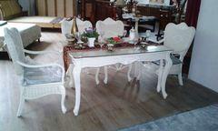 Комплект Хайма (Хайма (Haima)) (обеденный стол - 2-а кресла - 4-е стула) —  Ольха (MK-3468)