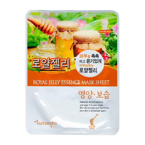Natureby Тканевая питательная маска для лица с экстрактом маточного молока 23г