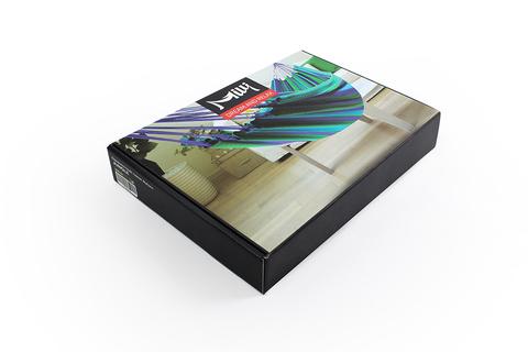 Гамак из хлопка фиолетово-зеленый Milli BHS-01