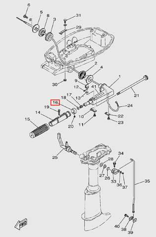 Индикатор газа  для лодочного мотора T5 Sea-PRO (9-16)