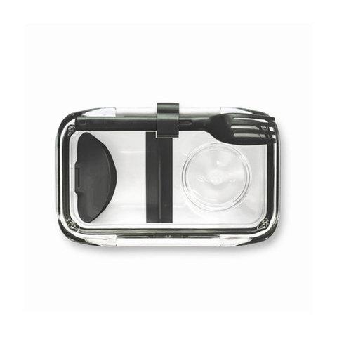 Ланч-бокс Bento Box черно-белый