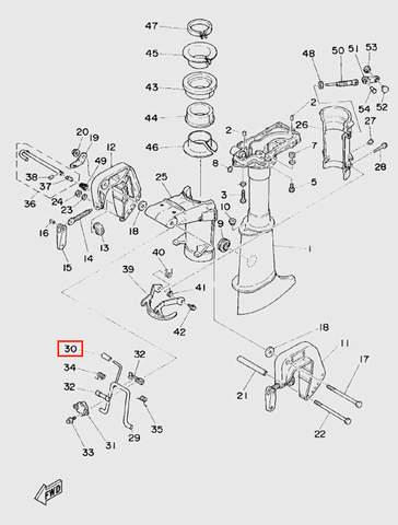 Рукоятка для лодочного мотора T5 Sea-PRO (10-30)
