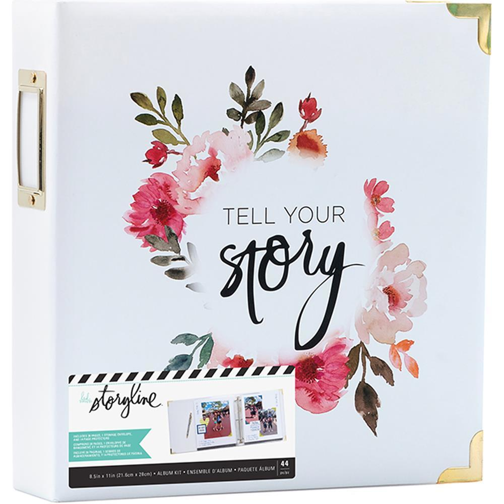 Папка на кольцах для Project Life ( для файлов 22х28 см) Heidi Swapp Storyline2 D-Ring Album  -White Floral