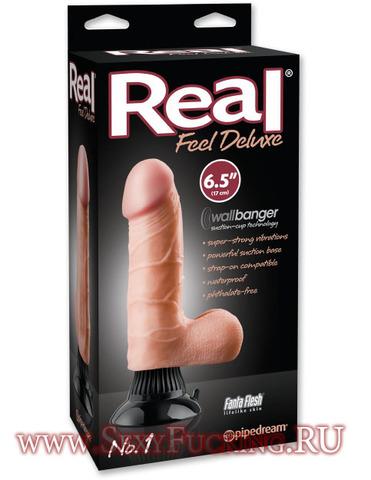 Реалистичный вибратор на присоске Real Feel Deluxe № 1 (4,8 х 14 см)