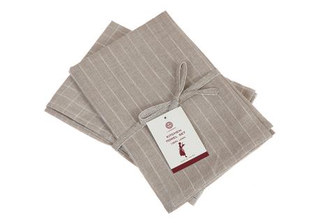 Набор полотенец 2 шт Luxberry Timeless maxi натуральный/белый