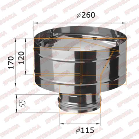Дефлектор-К d115мм (430/0,5мм) Ferrum