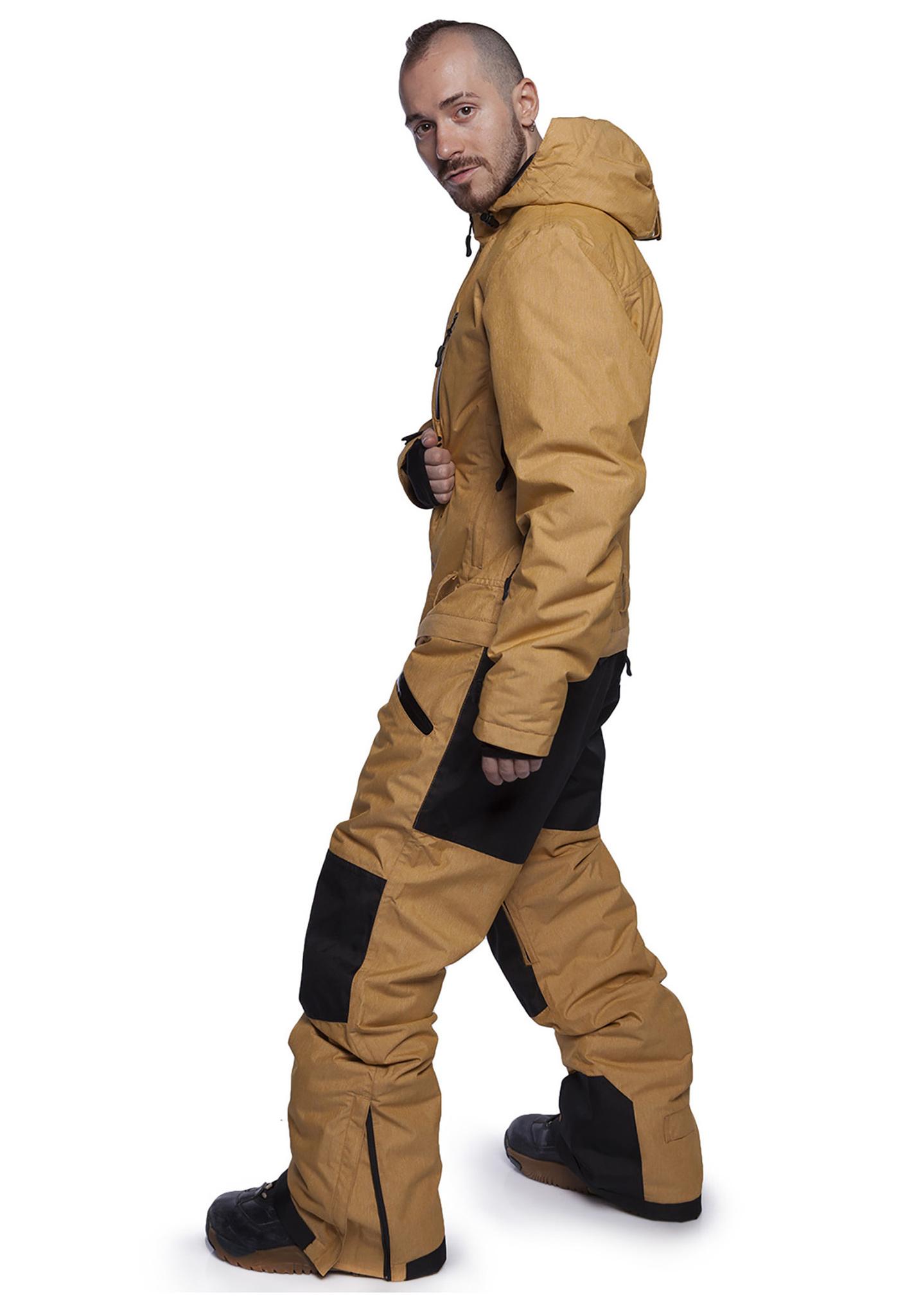 Утепленный комбинезон Cool Zone Kite (Кул зон) желтый меланж для сноуборда и кайтинга