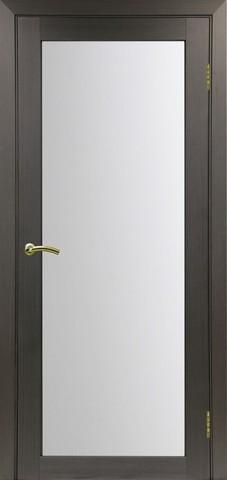 Дверь Optima Porte Турин 501.2, стекло матовое, цвет венге, остекленная
