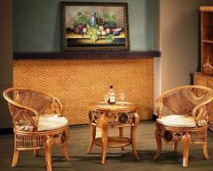 """Комплект """"3030"""" ( Чайный столик - 2 кресла) —  Медовый (МК (MK)-3461)"""