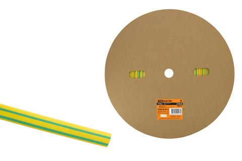 Термоусаживаемая трубка ТУТнг 10/5 желто-зеленая (100 м/ролл) TDM