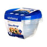 Набор круглых контейнеров TakeAlongs, 1,4 л (3 шт.), артикул 54125, производитель - Sistema