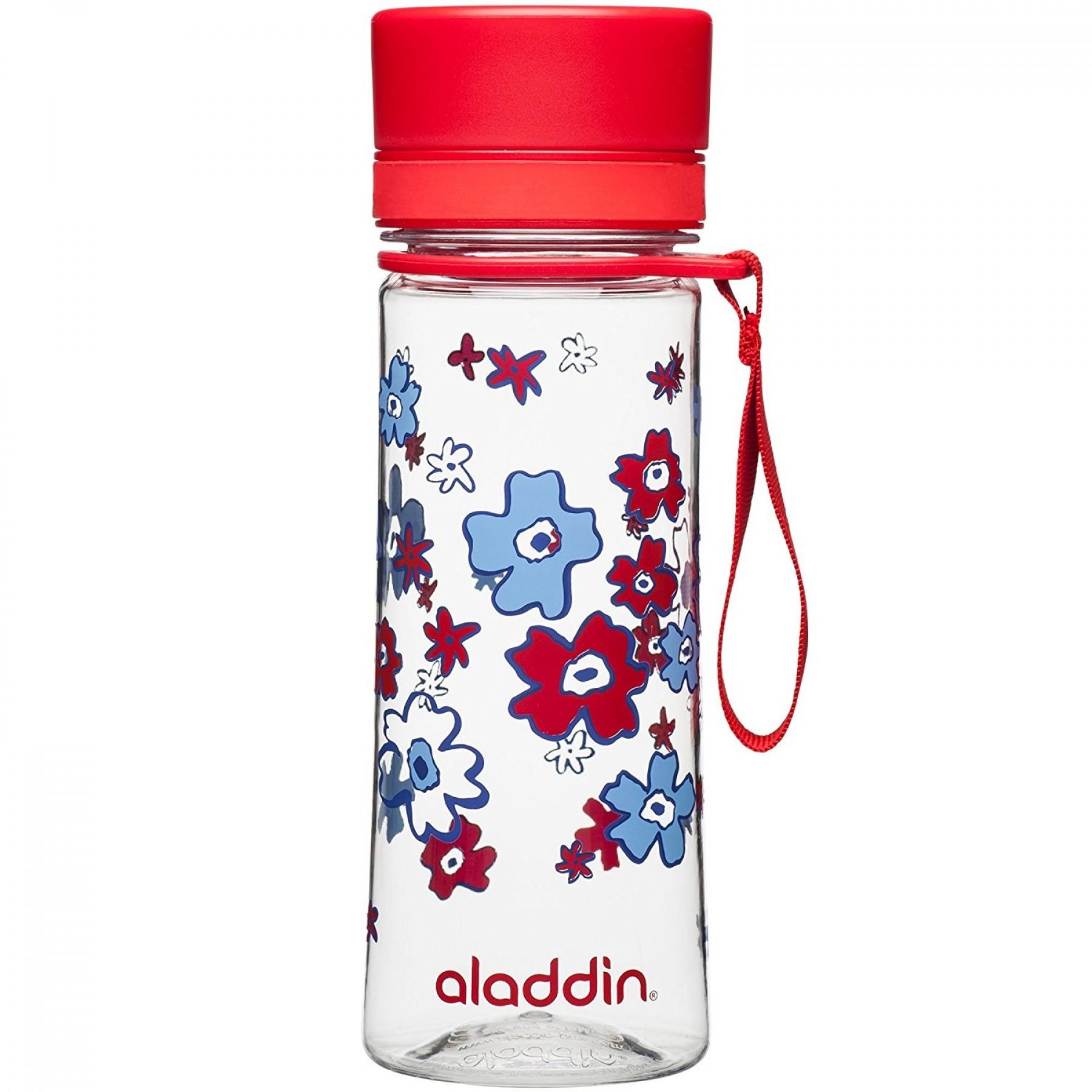 Бутылка для воды Aladdin Aveo 0.35L с красным узором