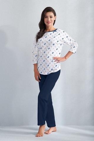 Женская пижама домашняя с брючками Luna 593