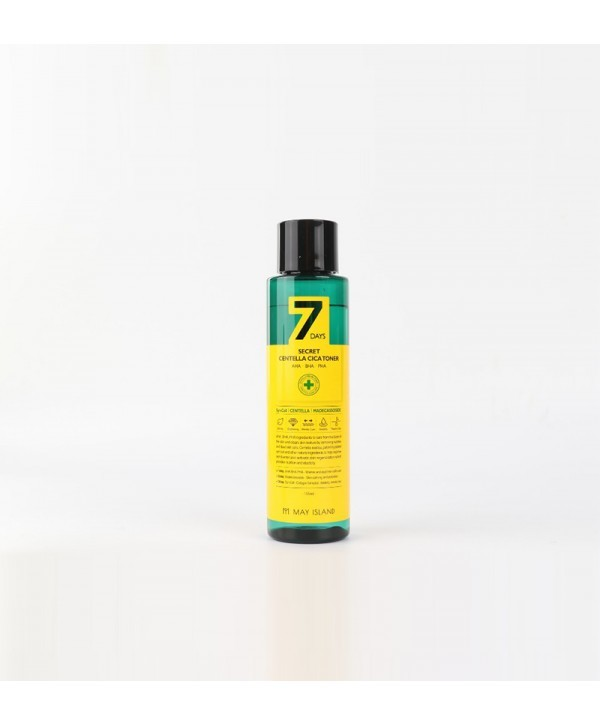 Тонер для лица 7days secret centella cica toner, 155 ml