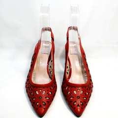Летние туфли босоножки на толстом каблуке G.U.E.R.O G067-TN Red