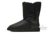 UGG SHORT BAILEY BUTTON METALLIC BLACK