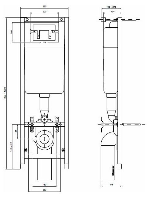 Комплект инсталляция с подвесным унитазом Ideal Standard W770101