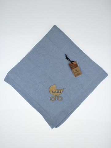 Покрывало плед  вязаный  (ниагара(серо голубой)