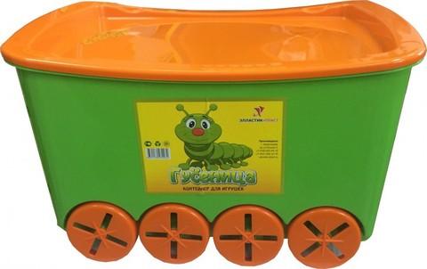 Контейнер для игрушек гусеница. Цвет: Салатовый