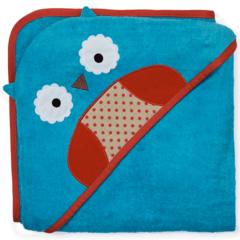 Детское махровое полотенце с капюшоном Совёнок