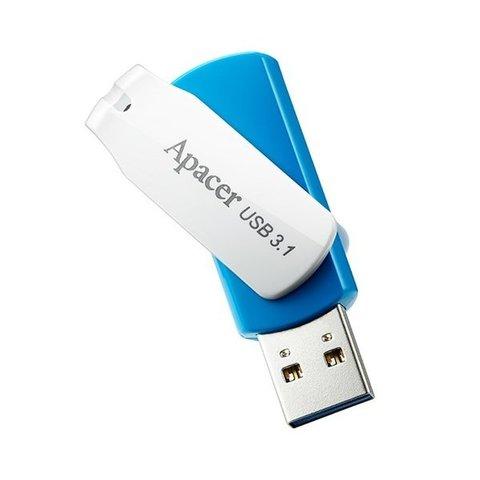 Накопитель Apacer AH357 32GB USB 3.1 Blue White (AP32GAH357U-1)