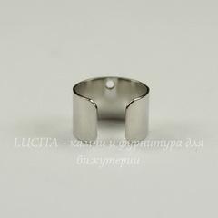 Основа для каффа (цвет - никель) 10х9,5 мм