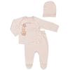 Комплект одежды для новорожденного (ползунки, кофточка, шапочка)