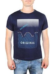 17615-4 футболка мужская, темно-синяя