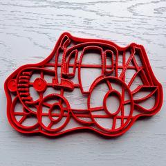 Синий трактор форма для пряника, мастики, печенья
