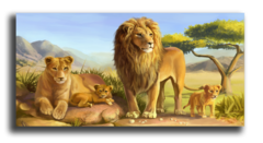 "Постер ""Семейство львов"""