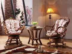 """Комплект """"3052"""" (Чайный столик - 2-а кресла вращ) —  Коньяк (MK-3462)"""