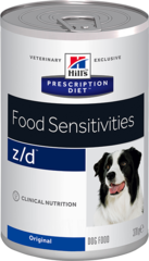 Ветеринарный корм для собак Hill`s Prescription Diet z/d Food Sensitivies, лечение острых пищевых аллергий