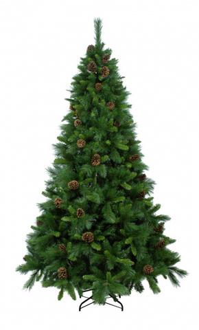 Ёлка Beatrees Primula с шишками 240 см. зелёная