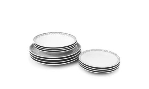 Набор тарелок 12 предметов с тарелками десертными 21 см HYGGELYNE Leander