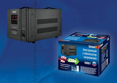 RS-1/5000LS Стабилизатор напряжения «Uniel» релейный однофазный напольный, 70-275 В, 5000ВА