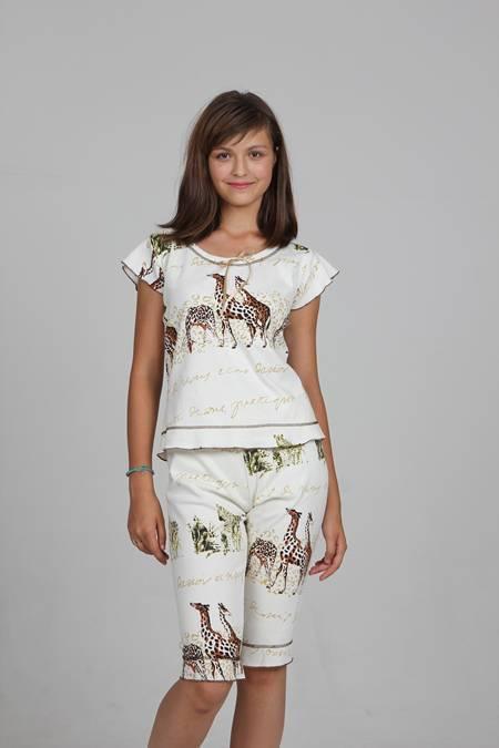 Выкройка женской пижамы с бриджами