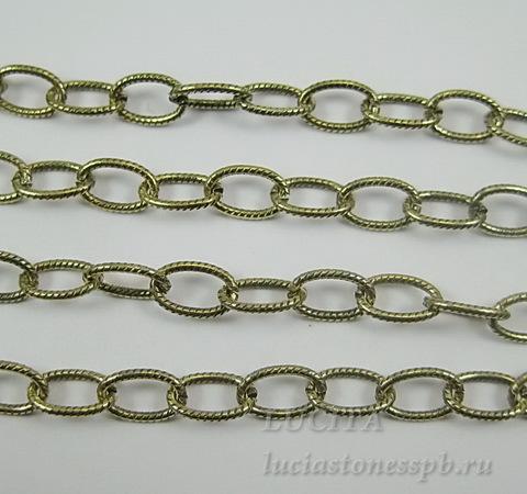 Винтажная цепь (звено 8х5 мм) (цвет - античное золото), 10 см ()