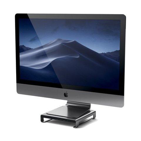 Подставка-док станция Satechi Type-C Aluminum iMac Stand with Built-in USB-C серый космос